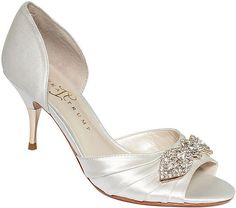 The Tall Bride's Shoe Guide — 20 Low-Heeled Shoes For Your Big Day: Kate Spade's Madison Heels ($298) are a classic wedding shoe, and the mid-heel height makes them a perfect choice for wearing all night long. : Ivanka Trump's Nanci Evening Pumps ($150) have a jeweled vamp for a subtle hint of glitz.