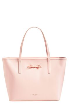 The light pink color of this Ted Baker London shopper brings a soft touch to a structured handbag.