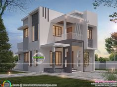 Contemporary style small double storied villa