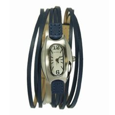 Amazon.com: TOKYObay Ladies Multi Strand Leather Band Angel Hour Watch in Blue: Tokyobay: Watches