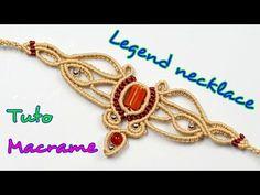 Collar Macrame, Macrame Colar, Macrame Necklace, Macrame Knots, Tribal Necklace, Macrame Bracelets, Diy Necklace, Loom Bracelets, Chevron Friendship Bracelets