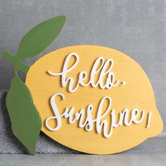 Lemon Hello Sunshine Wall Art – Relish Decor – diy kitchen decor on a budget Lemon Kitchen Decor, Home Decor Kitchen, Yellow Kitchen Decor, Country Kitchen, Kitchen Decor Signs, Decorating Kitchen, Kitchen Themes, Kitchen Wall Art, Apartment Kitchen
