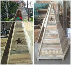 Our Teepee made from reclaimed pallets was shown on UK TV recently. Each pallet slat was carefully sanded so that …