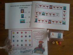 Gezellige, leerzame spelletjes voor de Sinterklaas viering: pepernoten memory, eenvoudig Sint ganzenbord en lotto van juf Inger.