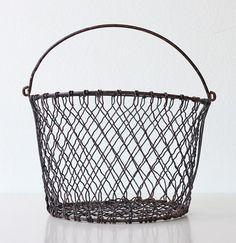 Vintage Wire Basket  bellalulu on Etsy,