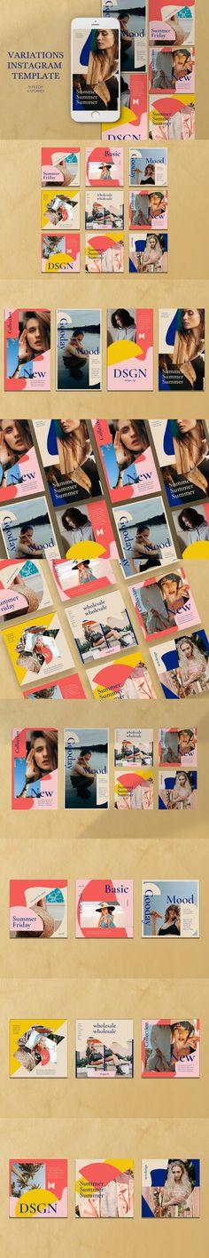 Variations Instagram Templates #summer #SocialMediaMarketing #psd #InstagramTips #retrofuture #InstagramPost #InfluencerMarketing #ninetiestemplate #summer #InstagramStory #instagramstories #saletemplate #busines #SocialMediaMarketing #SocialMediaInfluencer #InstagramPost #InstagramPostTemplate #InstagramTips #blog Mood Board Creator, Instagram Story Ideas, Instagram Posts, Instagram Templates, Instagram Design, Influencer Marketing, Layout, Social Media, Facebook