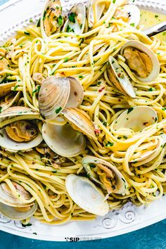 Linguine with white clam sauce is always a hit! This dish is great for the spring and summer months or really anytime you're in the mood for a light and fresh Italian pasta recipe. The briny clams, white wine, hot pepper flakes, and fresh parsley are the perfect flavor match for the pasta! #clams #seafoodrecipes #linguineallevongole #seafoodpasta #pastadinner #italiandinner Seafood Pasta Recipes, Easy Pasta Recipes, Clam Recipes, Noodle Recipes, Dinner Recipes, Linguine Recipes, Shellfish Recipes, Entree Recipes, Sauce Recipes