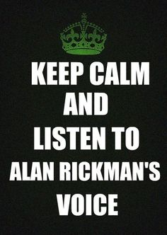 I do so love listening to Alan speak, even when he's playing evil.