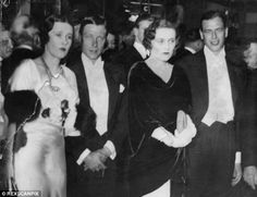 Couple: Freda Dudley Ward, left, pictured with Prince Edward, Viscountess Furness and Prince George of Hanover