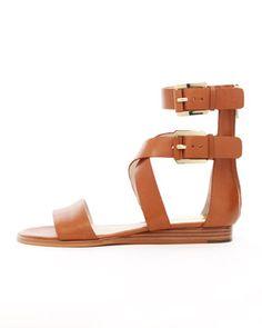 perfect summer sandal - MICHAEL Michael Kors  Josephine Flat Leather Sandal.
