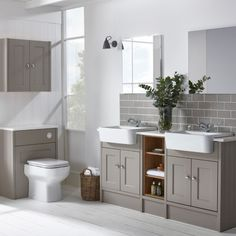 Burford Mocha Fitted Bathroom Furniture | Roper Rhodes