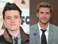 josh Hutchinson- Peeta Mellark   and Laim Hemsworth- Gale Hawthorne!!!!!!!!!    Hunger Games
