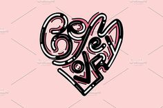 """""""Be my lover""""lettering illustration by TSAPLYA on @creativemarket #lettering #graphic #design #creative #market #typography #calligraphy #illustration #creativemarket"""
