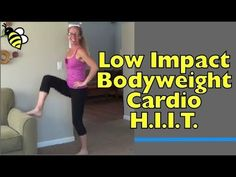 Bodyweight Favorites Cardio HIIT Modified for Low Impact - Quiet at-Home Workout without Jumping Think you can't do your favorite old-school exercises because of  tricky knees?  Think again!  This high intensity workout re-imagines all of the best high impact exercises and makes them safe for your joints and your downstairs neighbors!