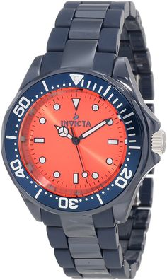 Invicta Women's 11307 Ceramics Orange Dial Navy Blue Ceramic Watch >>> For more information, visit image link.