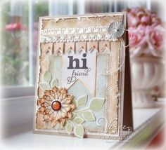 New Verve....Hi Friend by AndreaEwen - Cards and Paper Crafts at Splitcoaststampers