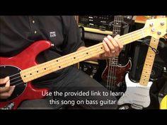 Fallout Boy Dance Dance Bass Guitar  Lesson Preview EricBlackmonMusicHD