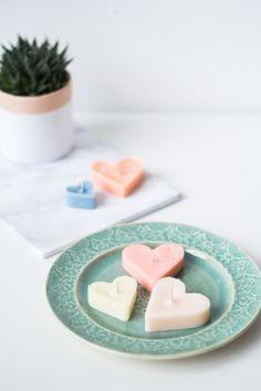 Herzförmige Kerzen | DIY Heart Tea Candles