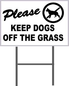 """4 WALKING OF DOGS PROHIBITED ON THIS PROPERTY Coroplast Signs w//Stakes 8/""""x12/"""""""