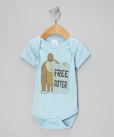 Take a look at this Blue 'Free Sister' Bodysuit - Infant by RaR Boys on #zulily today!