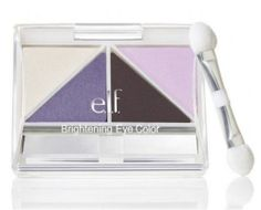 Elf Brightening BRIGHT Eye Shadow Palette SILVER LINING Blue Cream Gray Lavender