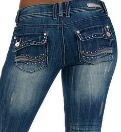 Embellished jean pockets