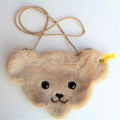 Collectible Steiff Teddy Bear Plush Purse Bag Original