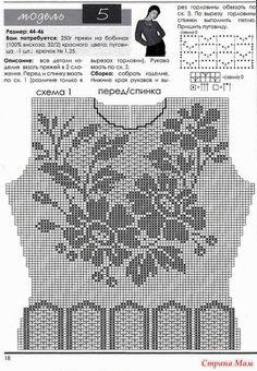 Πλεκτες Ιδεες-Crochet Ideas: crochet pattern shirt summer-πλεκτη μπλουζα με βελ...