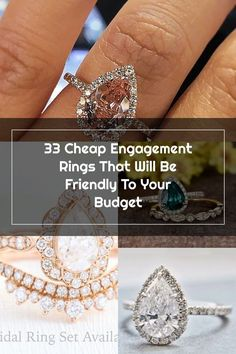 33 Cheap Engagement Rings That Will Be Friendly To Your Budget Wedding Rings Teardrop, Cheap Engagement Rings, Budgeting, Diamond, Bracelets, Jewelry, Jewlery, Jewerly, Schmuck