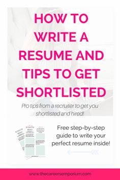 Create The Perfect Resume Fair How To Choose A Good Resume Format  Best Resume Tips  Pinterest .