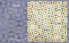 Free Quilt Calendar Computer Wallpaper: June | http://quiltbooksandbeyond.com/free-quilt-calendar-computer-wallpaper-june/