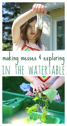 Such a good reminder that they are learning. Making messes in the water table. Geat for building language during play