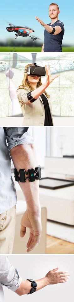 Myo is a wearable gesture control armband that gives you complete control over a variety of applications ranging from DJ light systems to drones and VR games to TV. Simply slide the stretchy one-size-fits-all band onto your arm and use a combination of hand gestures and motions to control your devices. You gotta see this one in action! BUY NOW!