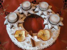 Adventní perníkový svícen,věnec Advent, Gingerbread, Muffin, Pudding, Breakfast, Desserts, Christmas, Food, Flan