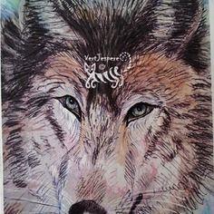 Estampe loup le magnifique