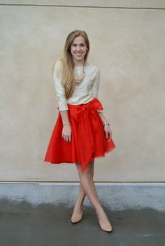Sam Edelman pumps on aBree Fashion: Valentines: Red Bow and Sequins