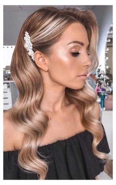 Long Hair Wedding Styles, Wedding Hair Down, Wedding Hairstyles For Long Hair, Bride Hairstyles, Down Hairstyles, Long Hair Styles, Gown Wedding, Bridesmaid Hairstyles, Lace Wedding