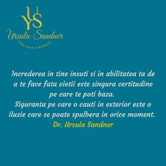 Ursula Sandner - Use your strength Ursula, Adele, Strength, Facts, Education, Quotes, Quotations, Onderwijs, Learning