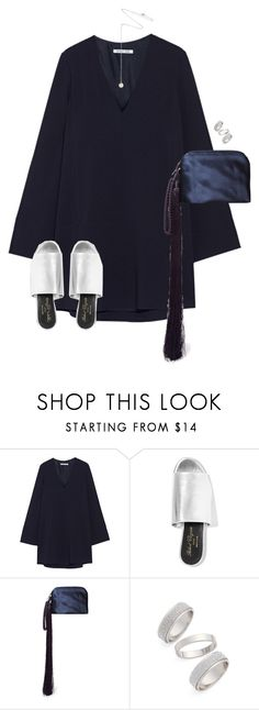 """""""Untitled #11180"""" by alexsrogers ❤ liked on Polyvore featuring Helmut Lang, Robert Clergerie, The Row, Topshop, Estella Bartlett, women's clothing, women, female, woman and misses"""