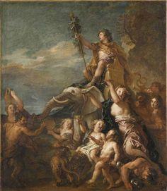 Charles de La Fosse (1636-1716) - Le triomphe de Bacchus, commandé en 1700 pour servir de dessus-de-porte dans la salle à manger du château de Meudon - Paris, Musée du Louvre