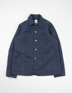 Post Overalls Navy Cotton Bedford Cord Sweetbear Jacket