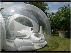 Glamping -Transparent bubble tent puts campers under the stars Bubble Tree, Bubble House, Bubble Boy, Bubble Pack, Camper Windows, Tree Tent, Architecture Design, Temporary Architecture, Conceptual Architecture