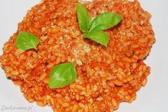 Pyszny i sycący #obiad: #risotto po #bolonsku - dla mięsożerców.