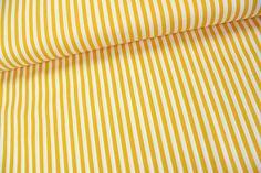 Stoff Streifen - Baumwollstoff - Streifen - Gelb / Weiß - ein Designerstück von alles-fuer-selbermacher bei DaWanda 7,70/m
