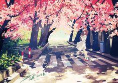 images for illustration anime art Fanarts Anime, Anime Chibi, Manga Anime, Anime Art, Figure Painting, Diy Painting, Graphisches Design, Another Anime, Anime Scenery