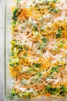 Broccoli Cheese Casserole - A creamy and savory Broccoli Cheese Casserole prepared with fresh broccoli and a seasoned cheddar and cream cheese sauce. This is a Low Carb, Keto-Friendly dish that& ALWAYS a crowd favorite! Oven Baked Broccoli, Broccoli Cheese Casserole Easy, Broccoli And Cheese Recipe, Broccoli Cheddar Chicken, Broccoli Bake, Fresh Broccoli, Broccoli Recipes, Casserole Recipes, Keto Casserole