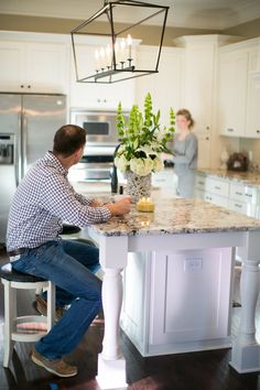 Love the kitchen island legs! (and counters, light, etc.)