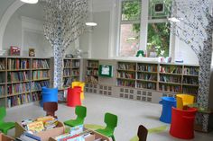 were the childrens libraries like this when you were young? another library project we completed