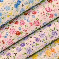 Tissus en Coton imprimé fleurs ! Coupons de tissus en coton imprimé : Les 3 mètres à 10 € !