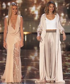 Fashion face off: Amanda Holden and Alesha Dixon both wowed in very different outfits as t...